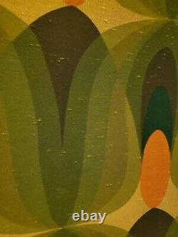 Large 40×30 Original Vintage Mid Century Mod 60s Panton style fabric panel