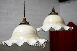 Large French Mid Century Vintage Pendant Light Shade