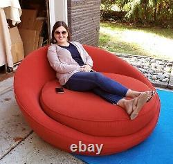 Large Vintage Oversized Circular Satellite Lounge Sofa Chair Milo Baughman 70's