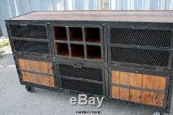 Liquor Cabinet/Bar. Vintage Industrial/Mid Century Modern Style. Urban/Rustic