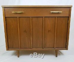 Mid-Century Danish Breakfront China Cabinet Credenza Cupboard Holman Mfg Vintage