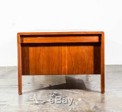 Mid Century Danish Modern Desk Executive Solid Teak Denmark Vintage Office Wood