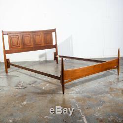 Mid Century Danish Modern Headboard Bed Frame Broyhill Sculptra Full S Vintage