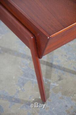 Mid Century Danish Modern Sewing Cabinet Rolling Cart Side Table Denmark Vintage