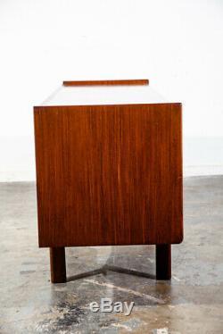 Mid Century Danish Modern Vanity Low Desk Office Teak 6 Drawer Vintage Denmark
