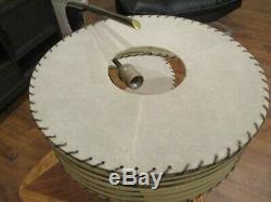 Mid Century Majestic Z Boomerang Lamp Vintage Atomic Retro Fiberglass Shades