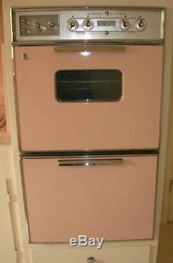 Mid Century Matching Pink Kitchen Appliances Stove Oven Hood Sink Vintage MINT
