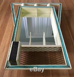 Mid Century Modern Atomic Shadow Flower Box Mirror Shelves Large 49 MCM Vintage