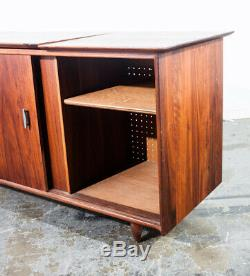 Mid Century Modern Credenza Stereo Console Cabinet Audio Ace Hi Prelude Vintage