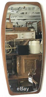 Mid Century Modern Denmark Danish Vintage Retro teakwood mirror