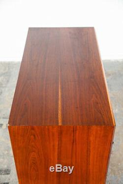 Mid Century Modern Highboy Dresser Founders Cartwright Walnut Tall Cane Vintage