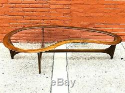 Mid-Century Modern Pearsall Style Kidney Coffee Table by Lane Vintage