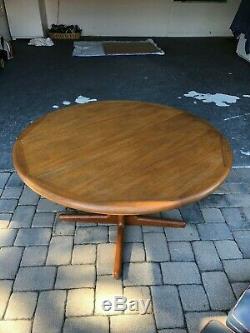 Mid Century Modern Scan Vintage Danish J L Moller Teak Dining Table Only