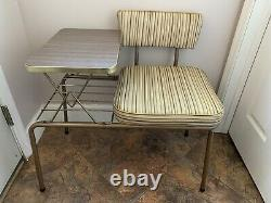 Mid-Century Vintage Gossip Bench Telephone Table With Seat