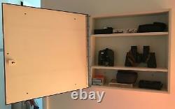 Mid Century modern vintage brown mirror vanity storage Kartell Panton eames