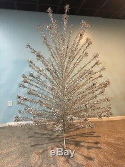 Mid century Modern VINTAGE EVERGLEAM ALUMINUM 7 FT. CHRISTMAS TREE 100 BRANCH