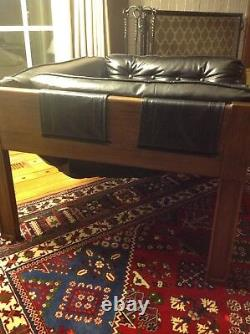 Midcentury Modern Vintage Naugahyde Sling Chair