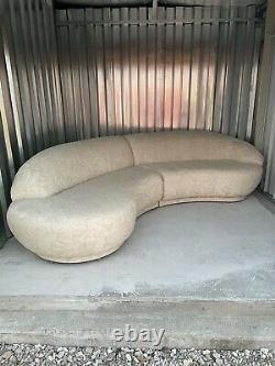 Milo Baughman Thayer Coggin Serpentine Mid Century Modern Couch Sofa Vintage
