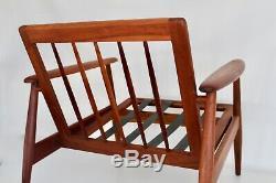 Moreddi Vtg Mid Century Danish Modern Teak Wood Lounge Chair Madsen Jalk Selig