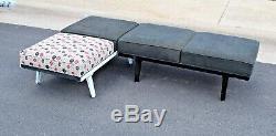 Nelson Herman Miller Steel Frame Vtg Mid Century Modern Bench Chair Sofa Daybed