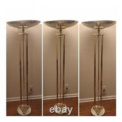 OBO Vintage Mid Century Modern Hollywood Regency Brass Floor Lamp Torchiere, MCM