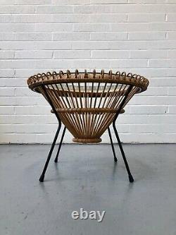 ORIGINAL FRANCO ALBINI VINTAGE CANE RATTAN COFFEE TABLE. Danish G Plan DELIVERY