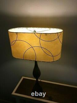 OVAL Mid Century Vintage Style Fiberglass Lamp Shade Modern Atomic