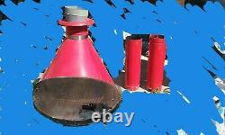 PREWAY MID CENTURY VINTAGE free standing CONE FIREPLACE AWESOME LQQK