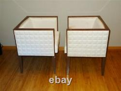 Pair Costantini Pietro Mid Century Modern Yale Cube Lounge Chairs