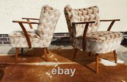 Pair Of MID Century Vintage German Armchairs / Chairs Great Condition Sept