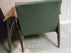 Pair Vintage Mid-Century Danish Modern Walnut Lounge Chairs