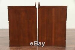 Pair of Midcentury Modern 1960 Vintage Walnut Nightstands #30037