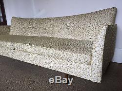 Paul McCobb Style Original Mid Century Sofa Rare Bowtie Design Flared Arms Vtg