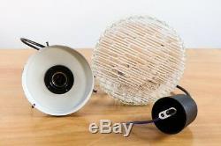 Pendel Leuchte Klarglas Metall Lampe Modern Mid Century 60-70er Vintage Pendant