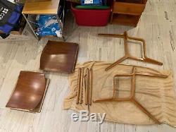 Peter Hvidt Orla Molgaard-Nielsen mid century Ax Chair Fritz Hansen vintage
