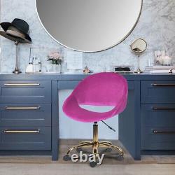 Purple Velvet Gold Metal Makeup Side Chair Vintage Mid Century Vanity Chair