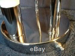 Rare Mid Century Modern Vintage Chrome Waterfall Globe table lamp eames era