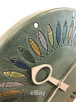 Rare Vintage Meridian Fish Clock Howard Miller Bitossi George Nelson Mid Century