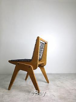 Rare Vintage Plywood Cord Rope Chair Robert Kayton Assoc Mid Century Modern