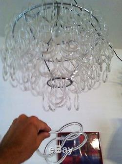 Rare vintage Murano Glass chandelier ceiling lamp Mid Century Modern Design