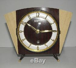 Retro Vintage Mid Century Junghans Electronic Mantle Clock Rare And In GWO