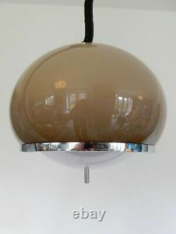 Rise and fall ceiling pendant lamp light mid century Guzzini Burgos vintage mcm