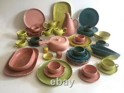 Russel Wright Vtg MID Century Steubenville American Modern Dinnerware 57 Pc Set
