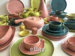 Russel Wright Vtg MID Century Steubenville American Modern Dinnerware 57 Pc Set