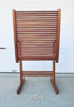 SET 6 Vtg Mid Century Danish Modern Solid Wood Teak Dining Chairs Sculptural MCM