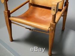 Safari Sessel von Wilhelm Kienzle für Wohnbedarf Leder 1950er Vintage Midcentury