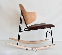 Selig Kofod Larsen Vtg Mid Century Danish Modern Penguin Lounge Rocking Chair