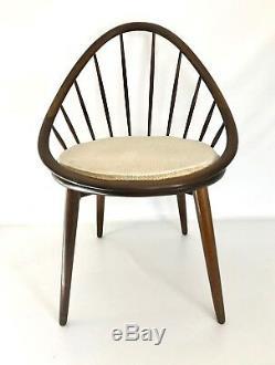 Selig Kofod Larsen Vtg Mid Century Danish Modern Petit Lounge Hoop Side Chair