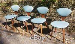 Set Of Four Vtg Original Mid Century Norman Cherner Plycraft Dining Chairs MCM