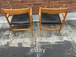 Set Of Two Mid Century Vintage Danish Style Armchairs 1960s-70s